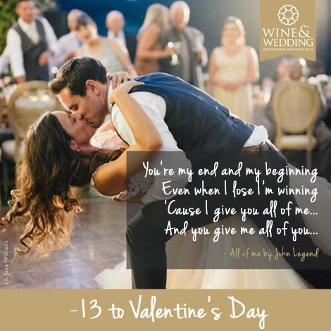 -13 ... Waiting for #Valentine's Day #Love songs for your first #wedding dance / All of me by John Legend