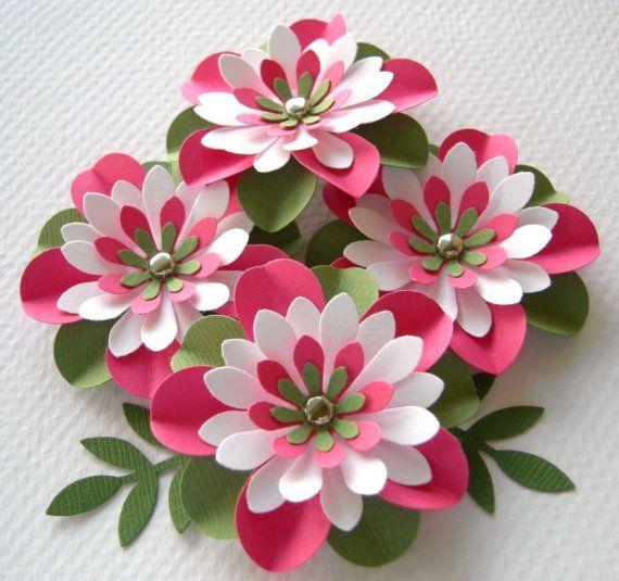 Sandía de flores de papel todo arrugado con por sarasscrappin