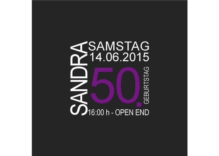Einladungskarte+/+Einladung+50.+Geburtstag+von+Designkarten+auf+DaWanda.com