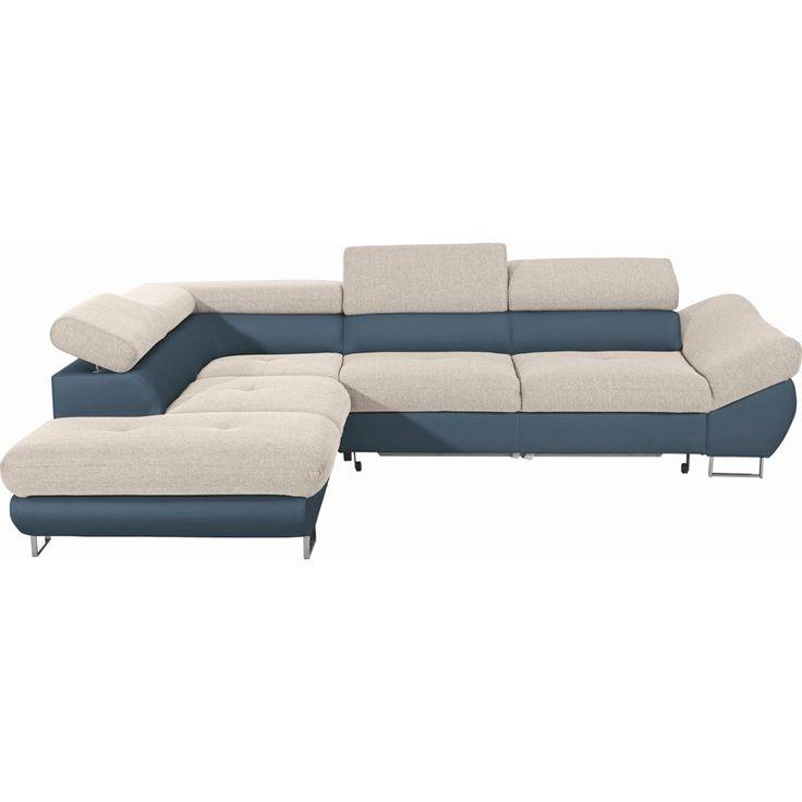 Carryhome wohnlandschaft webstoff bettkasten for Sofa bettkasten schlaffunktion