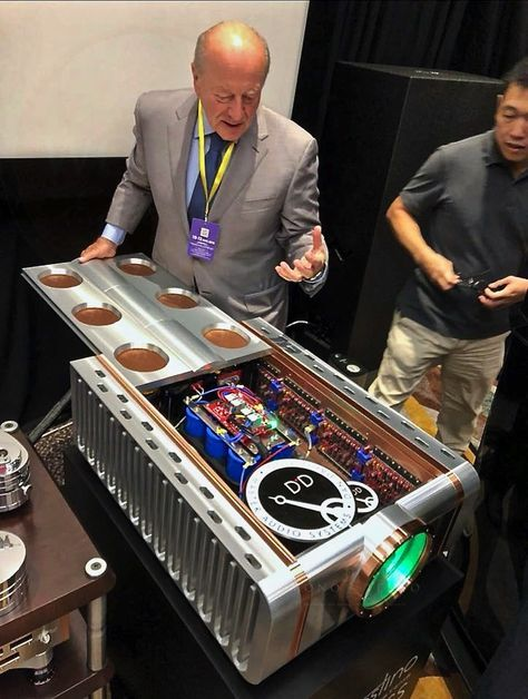Dan D'Agostino is showing what makes the D'Agostino Master Audio Systems Relentless Mono ...