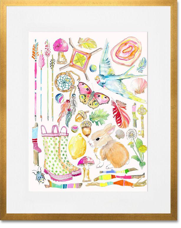Sugar & Spice: shelly kennedy/drooz studio for Oopsy Daisy . Nursery art. Baby girl
