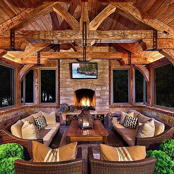 Beautiful Rustic Outdoor Fireplace Design Ideas 687: 225 Best Images About Sunrooms & Conservatories On Pinterest