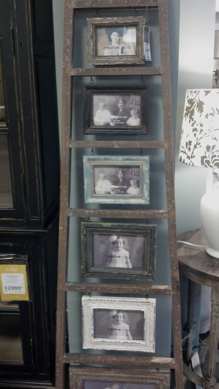 Ladder - picture frame idea