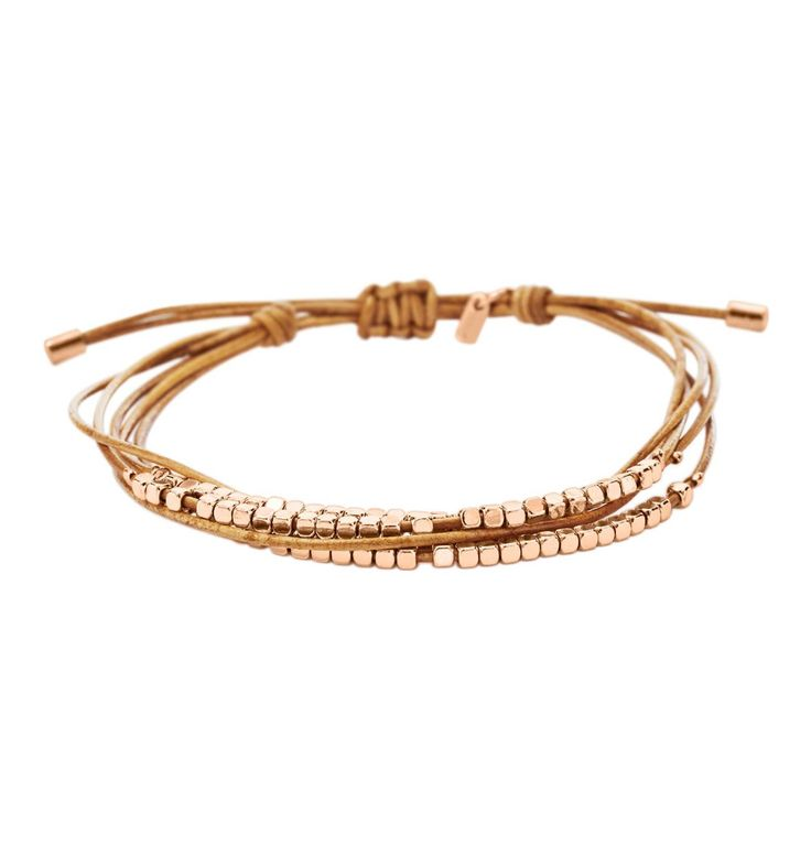 FOSSIL Steel Damen Armband Dainty Rondell Slider beige JA6422791 | Galeria Kaufhof