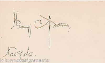 BISHOP HENRY POTTER TAMMANY HALL CORRUPTION FIGHTER ORIGINAL AUTOGRAPH SIGNATURE