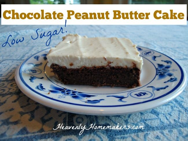 Very Low Sugar Cake Recipes: Low Sugar Chocolate Peanut Butter Cake