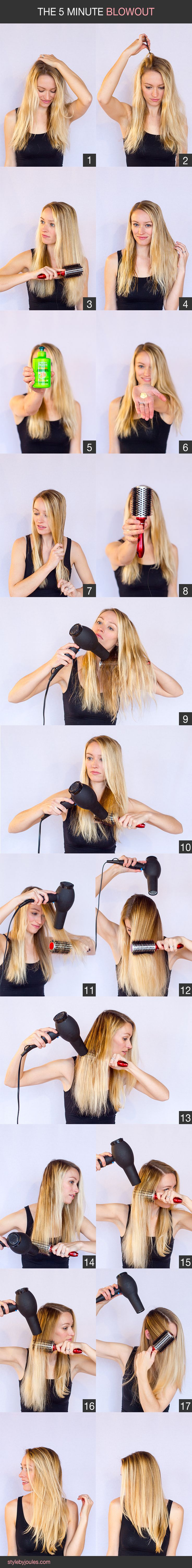 Easy diy blow dry tutorial for frizzy, wavy hair. This is how I do my hair before work every day.