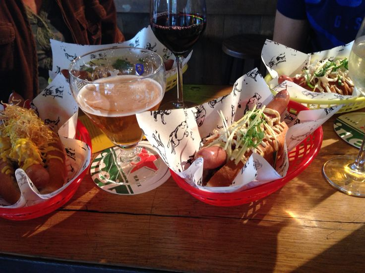 Hotdogs at The Fat Dog in Amsterdam from the famous Dutch chef Ron Blaauw