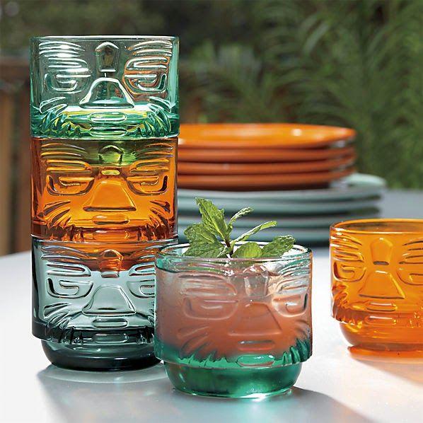 Tiki glasses from CB2