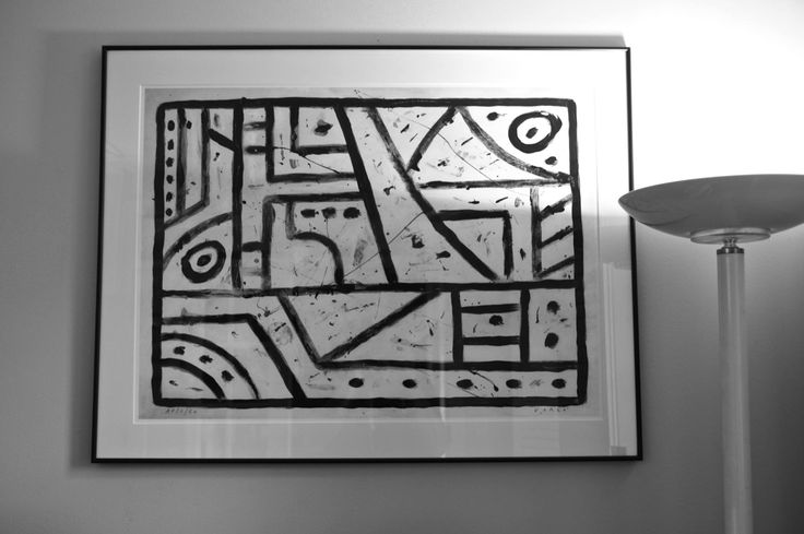 """Paintings and Petroglyphs # 04. 22"""" x 30"""" Giclee sample matted and framed. SOLD $350.00"""
