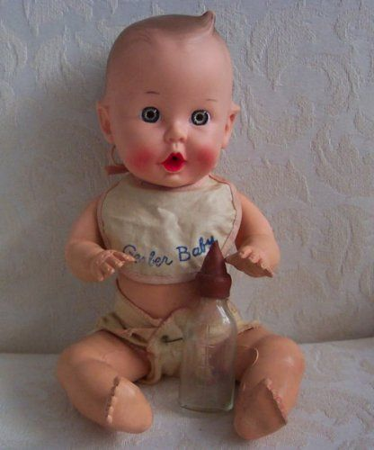 Dolls-from-the-1950s. sun Rubber Gerber baby doll