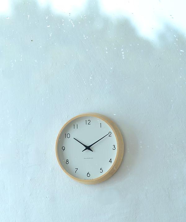 完成されたフォルムが魅力のレムノスの掛け時計。掛け時計 電波時計 Lemnos レムノス Campagne カンパーニュ PC10-24W 北欧 おしゃれ かわいい 人気 日本製 音がしない【レビュー特典付】