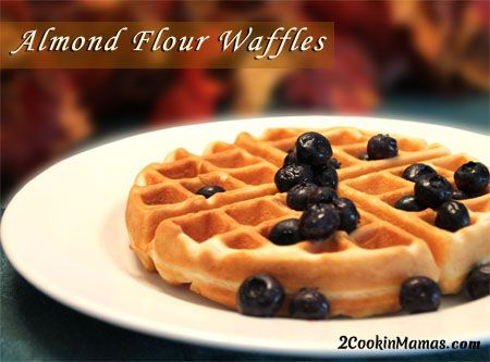 Go Gluten-Free with Almond Flour Waffles  (The mix turns out very thick, but don't worry, they will cook perfectly)