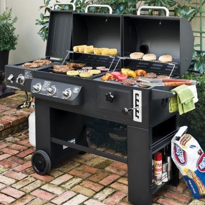 Grill Half Gas Half Charcoal Dual Gas Charcoal Grill