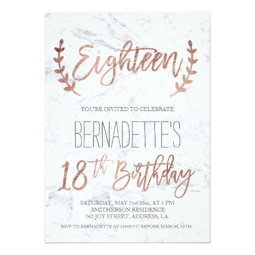 440 best 18th Birthday Party Invitations images on Pinterest