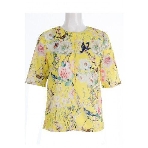 Heidi Yellow Floral Print Blouse BUY IT NOW £18 AT www.fuchia.co.uk