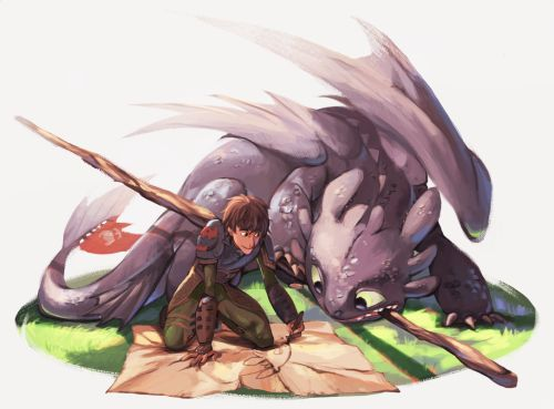 Hiccup and Toothless ^_^ ^.^ ♡