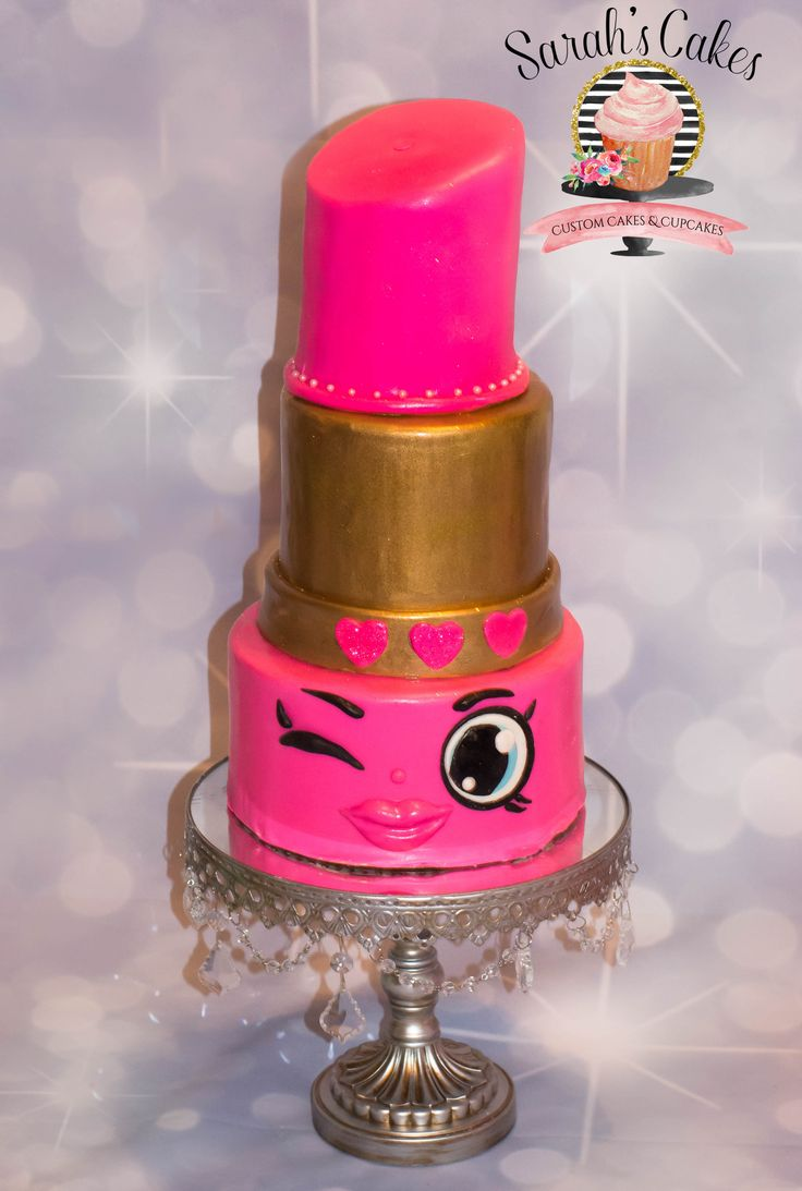 Shopkins Lippy Lips Cake Cupcake Cakes Cake Party Cakes