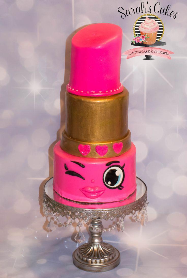 Shopkins Lippy Lips Cake Birthdays Cakes Cupcake Cakes