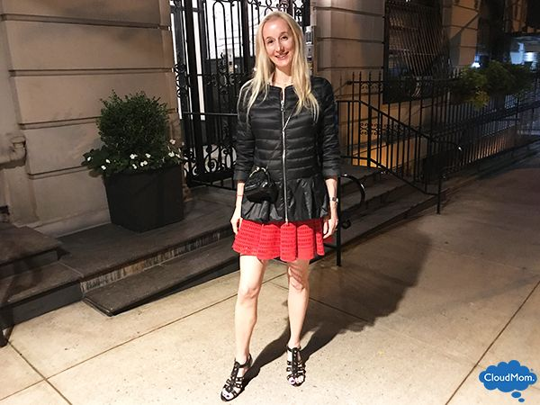 Fall fashion trends with a red mini skirt outfit from Zara online and a giveaway!