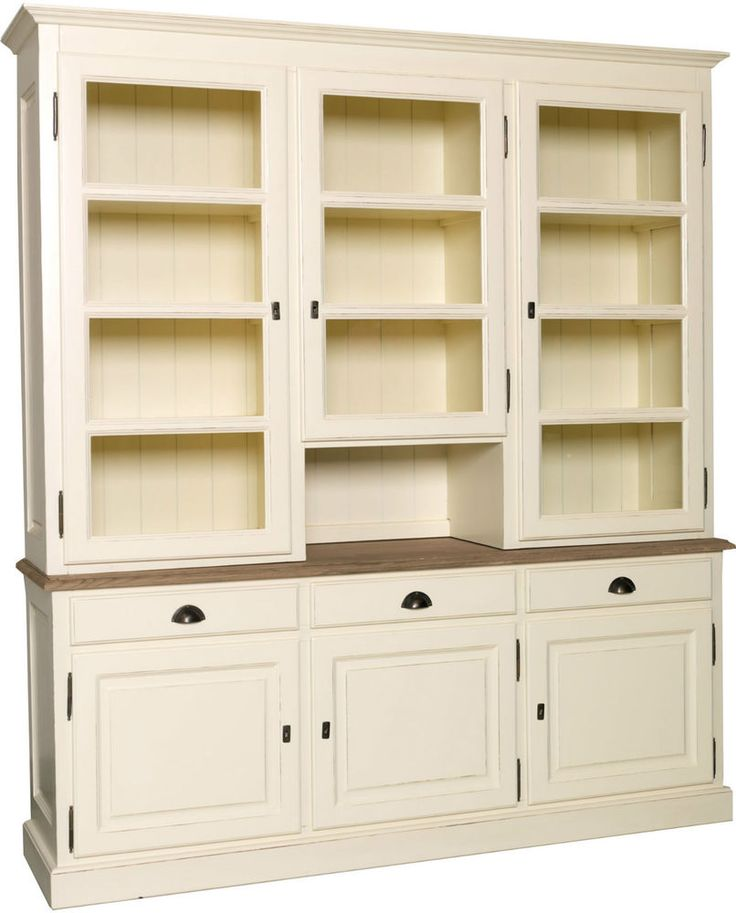 6 Glazed Dresser Solid Wood Pine and Oak - Hand Made in the UK