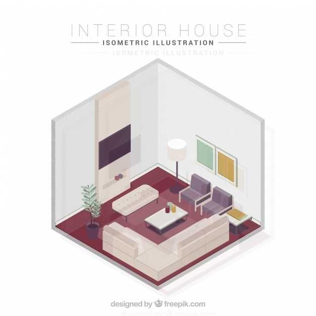 Isometric Living Room - FREE