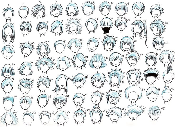 1000+ images about Chibi/ Anime hair styles on Pinterest | Hair reference, Manga and Hair steps