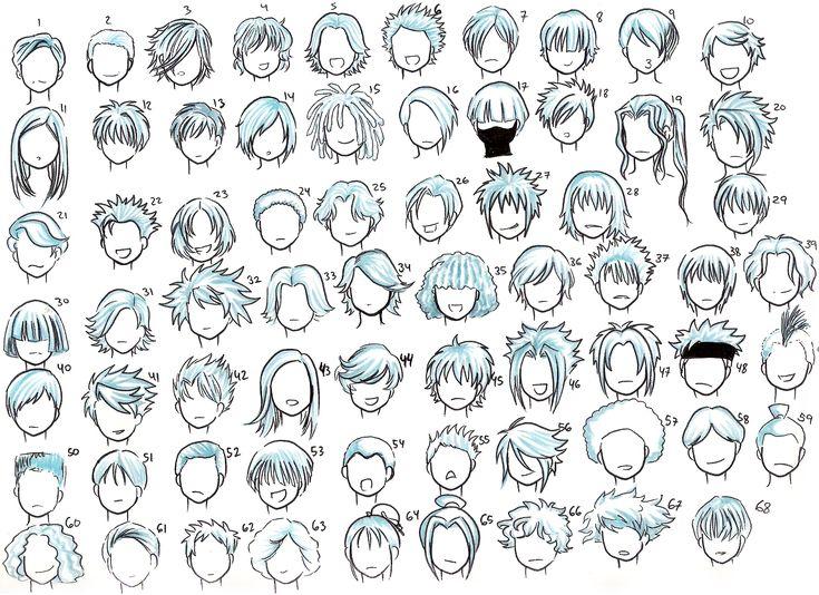 Astounding 1000 Ideas About Manga Hairstyles On Pinterest Anime Hairstyles Short Hairstyles For Black Women Fulllsitofus