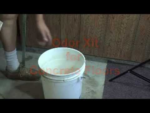 How to remove pet urine from concrete youtube for Household cement