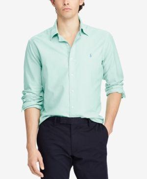Polo Ralph Lauren Men's Classic-Fit Shirt - Bayside Green XXL