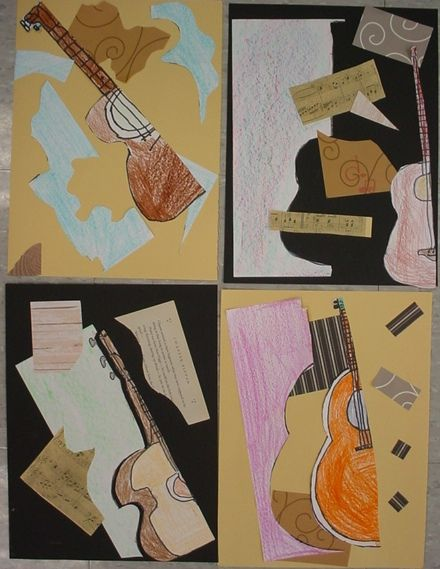 Mrs. Knight's Smartest Artists: Picasso's Guitar: Cubism for 2nd graders, 2012