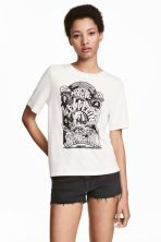 T-shirt with a print motif - White/Led Zeppelin - Ladies | H&M GB 1