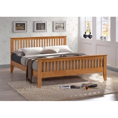 8101b4e8a269 Home Loft Concept Gallegos Bed Frame in 2019 | Products | Bed Frame, Wooden  bed frames, Oak beds