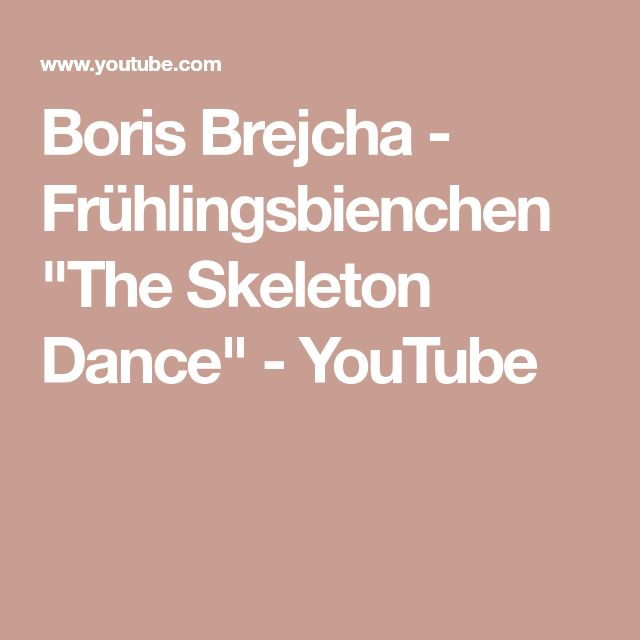 "Boris Brejcha - Frühlingsbienchen ""The Skeleton Dance"" - YouTube"