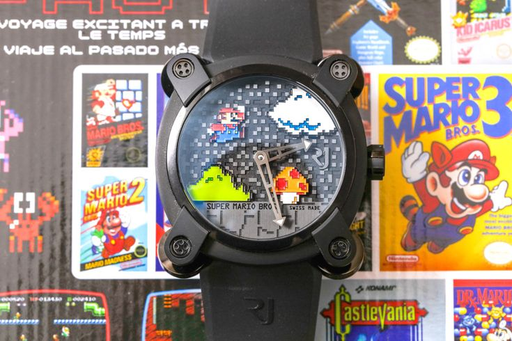 Ariel Adams talks about reliving his childhood with the Romain Jerome Super Mario Bros. Debuted in 2015 so as to coincide with the 30th anniversary of the Super Mario Bros. video game.
