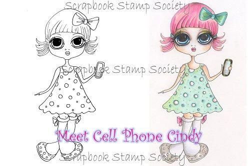 My Bestie digi stamp Cellphone Cindy-my besties, digi stamps
