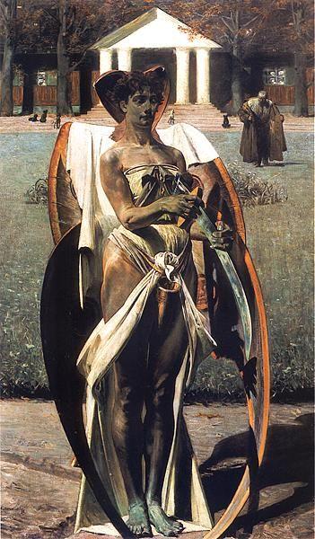 Jacek Malczewski, Thanatos I    Muzeum Narodowe, Poznań    Date: 1898  Technique: Oil on canvas, 124 x 74 cm