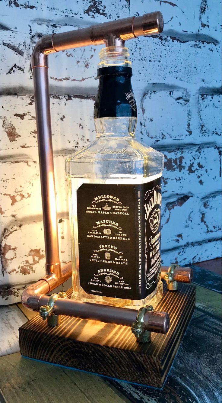 Fabriqué à la main Jack Daniels Lampe steampunk cuivre ...