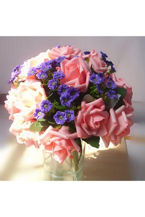 Bouquets de Noiva Lindo Mão-amarrado Bouquets de casamento Fibra de poliéster