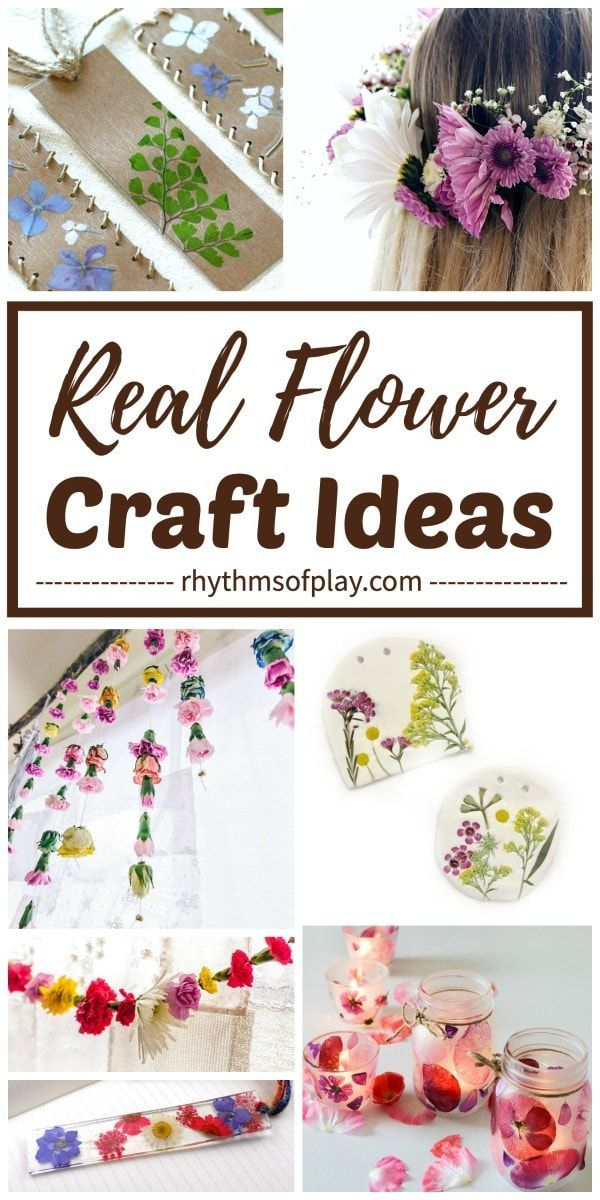 Real Flower Craft Ideas Flower Crafts Craft Projects For