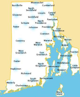 Rhode Island Map #VisitRhodeIsland | Rhode Island Places | Pinterest ...