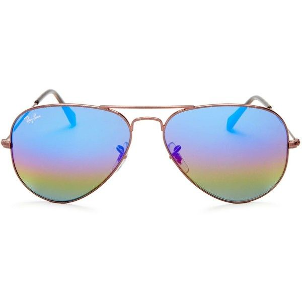 Ray-Ban Mirrored Aviator Sunglasses, 60mm (€175) ❤ liked on Polyvore featuring accessories, eyewear, sunglasses, mirrored aviator sunglasses, mirrored sunglasses, ray ban glasses, aviator sunglasses and mirror aviator sunglasses
