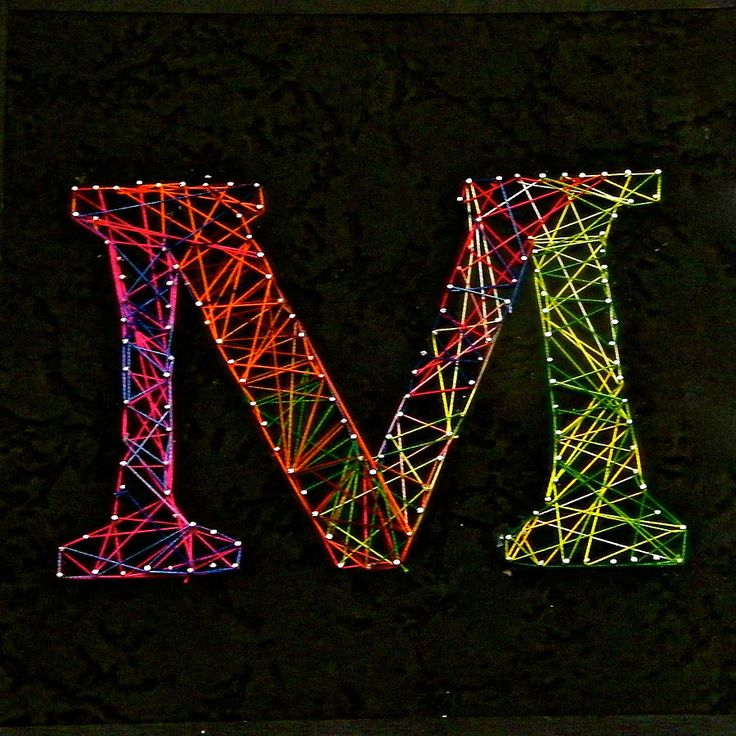 """string art - reminds me of lasers - maybe name, initial or age? or if ambition """"happy birthday"""""""