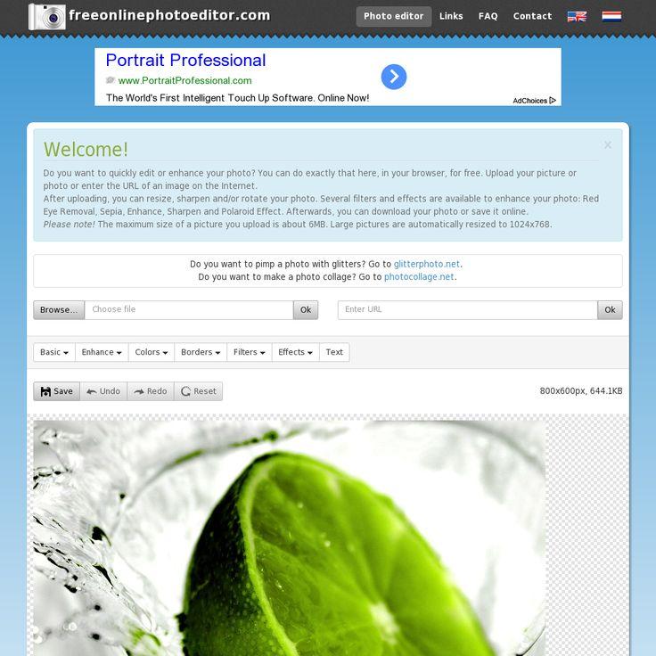 ONLINE PHOTO EDITOR - http://www.freeonlinephotoeditor.com/