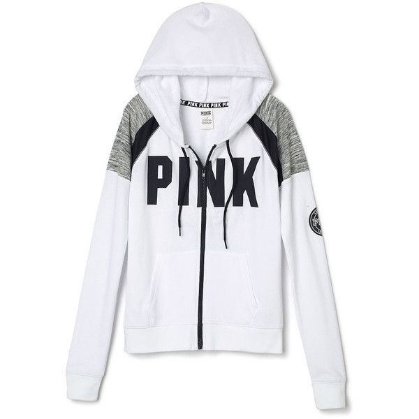 Hoodies and Sweatshirts - PINK (€45) ❤ liked on Polyvore featuring tops, hoodies, sweatshirts, sweatshirt hoodies, crewneck sweatshirt, victoria secret hoodie, hooded pullover and victoria secret sweatshirt