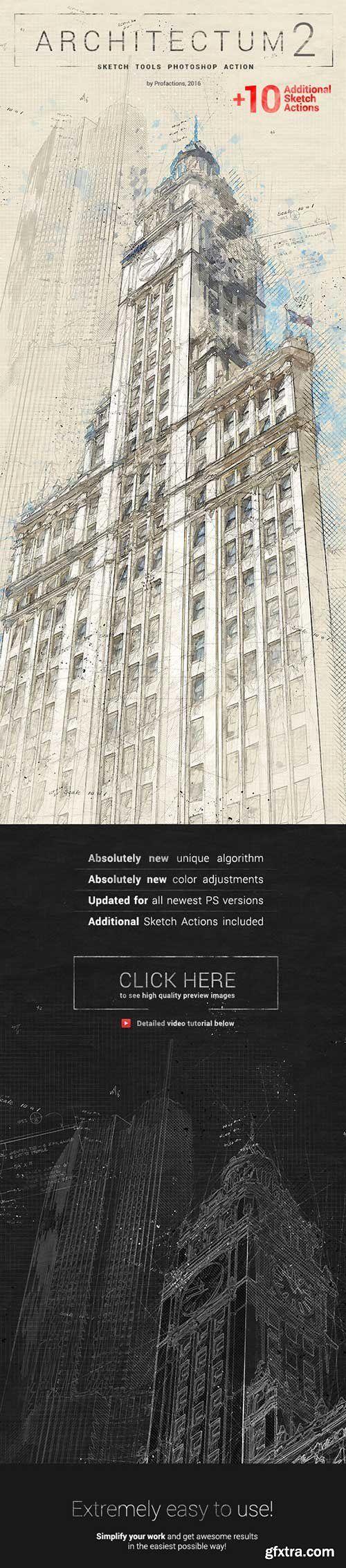 Graphicriver - Architectum 2 - Sketch Tools Photoshop Action 18436174