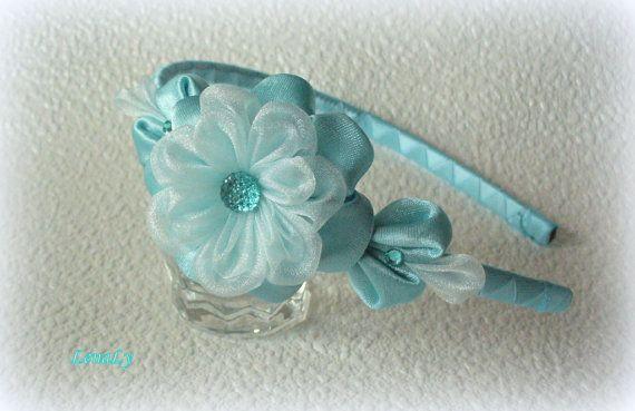 Headband from flowers kanzashi Julia by LenaLy on Etsy, $12.50