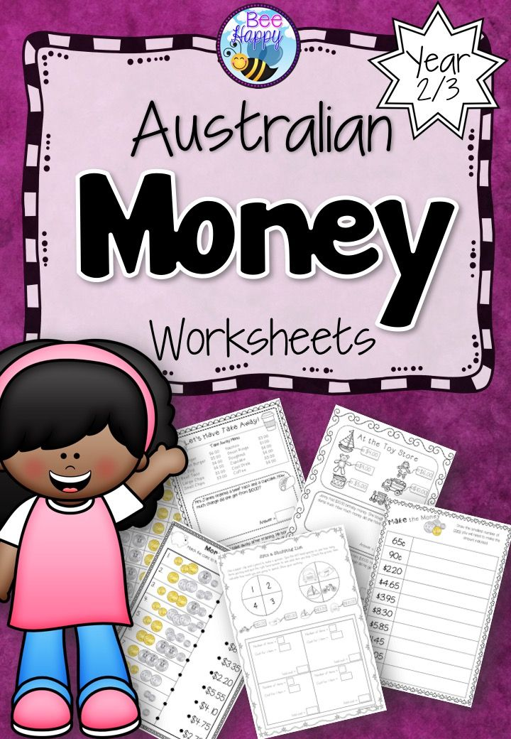 Counting groups of coins, matching prices, shopping problems and calculating change – all these activities and more. 29 worksheets that require no preparation whatsoever! 30 pages for $6! http://designedbyteachers.com.au/marketplace/australian-money-worksheets-year-2-3/