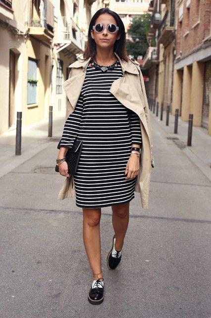 Styleinlima con vestido de rayas de Vila Clothes.